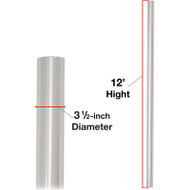 """Deluxe Vision Pole Mount 3.5"""" dia. x 12ft tall (POLE ONLY)"""