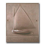 Cape Cod Catboat - Bronze Housemarker