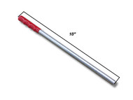 """18"""" Stainless Handle with Grip (3/4"""" dia.) (160-A-1013ST)"""