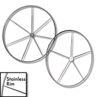 Stainless Steel Sailboat Destroyer Wheel