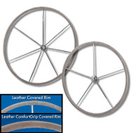 Leather Covered Rim Sailboat Destroyer Wheel