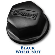 "Black Stainless Steel Wheel Nut - 1/2""-20 Shaft Threads"
