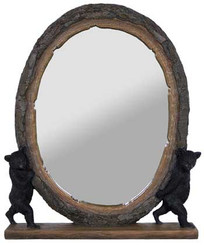 Two Bears Mirror with shelf
