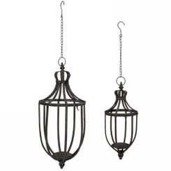 Alexia hanging lanterns set of two