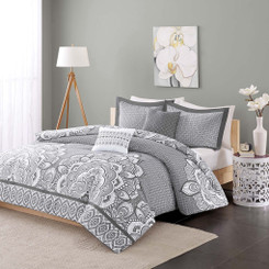 Isabella Grey Queen Comforter Set 5pcs