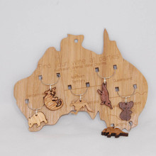 Wooden Australiana Wine Glass Charms