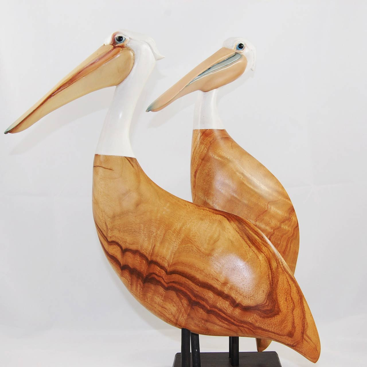 Pelican Wooden Bird Sculpture Australian Bird Carving