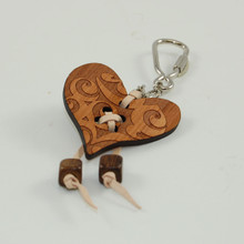 Wooden Heart Shaped Keyring. Ausift or souvenir.tralian made with native timbers. Great g
