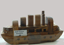 Wooden Ship Puzzle Brain Teaser. 3D wooden puzzle which provides a great challenge.
