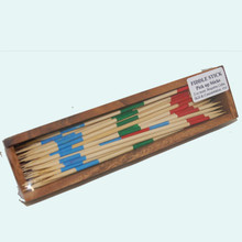 Boxed Wooden Pick Up Sticks Game. Comes with lid.