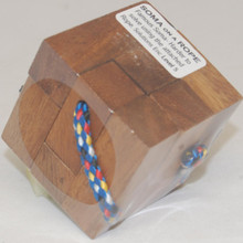 Wooden 3D Soma Cube Puzzle with Rope