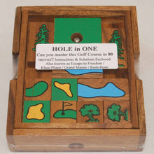 Wooden Hole in One Board Game