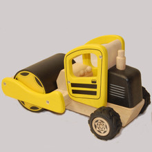 Natural Wood Construction Toy Road Roller