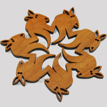 Kangaroo Trivet made from a variety of Australian native Timbers.