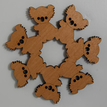 Wooden Koala Teapot Trivet made from a variety of Australian native Timbers.