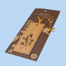 Australian Timber Bookmark featuring a Tree Frog