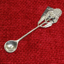 Lead free Silver Pewter Olive Spoon. Handmade in Australia.