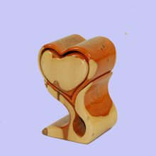 Carved wooden trinket box. Handmade in Australia.