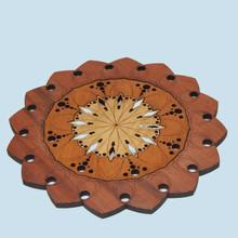 Mandala Pot Stand or Trivet. Australian Timbers.