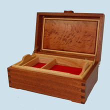 Beautiful Australian timber jewellery box with dovetail joints.