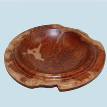 Small turned Red Mallee Burl Bowl made by Ron Leclere.