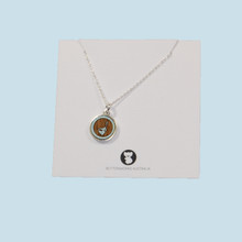 Charming Blue Wren Necklace made in Australia.
