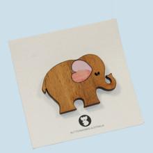 Elephant brooch made in Australia.