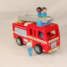 Child's sturdy wooden Fire engine.