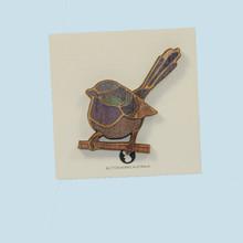 Fairy Wren Brooch made in Australia.