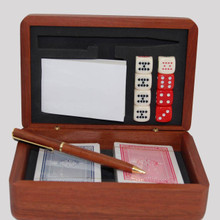 Wooden Boxed Card and Dice set