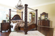 North Shore Dark Brown 7 Pc.King Poster Bedroom Collection