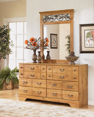 Bittersweet Light Brown Dresser & Mirror