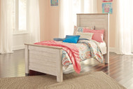 Willowton Whitewash Twin Panel Bed