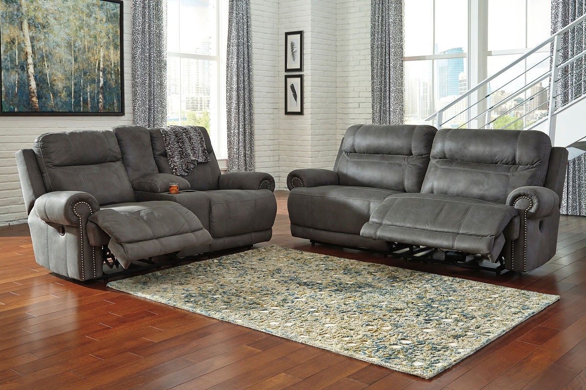 Incredible Austere Gray Reclining Sofa Loveseat Set Interior Design Ideas Clesiryabchikinfo