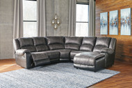 Nantahala Slate 5 Pc.  Left Arm Facing/Right Arm Facing Sectional