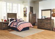 Trinell Brown 5 Pc. Dresser, Mirror, Chest, Twin Headboard Bed & 2 Nightstands