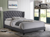 Rosemary Cal.King Platform Bed- Grey Finish