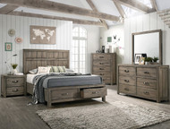 Arcadia King Bed w/ Storage Drawer
