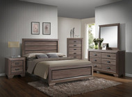 Arcadia King Bed w/ Storage Drawer- Assembled