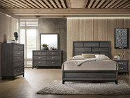 Akerson Queen Bed-Grey Finish
