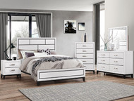 Akerson Queen Bed- Chalk Finish