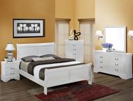 Louis Philip Full Bed- White Finish