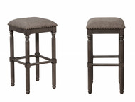 Chadwick Bar Height Stool- Grey Finish