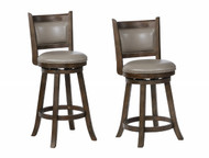 Cecil Swivel Bar Stool- Grey Finish