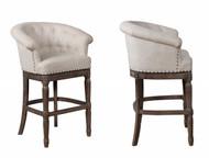 Gia Swivel Bar Chair- Cream Finish