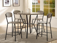 Blake 5 PK Round Counter Height Dinette