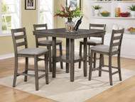 Tahoe 5 PK Counter Height Table- Grey Finish