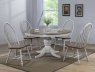 Cally Counter Height Round Table- Grey Finish