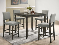 Derick 5 PK Counter Height Table-Grey Finish