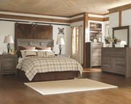 Juararo Dark Brown 6 Pc. Dresser, Mirror, Chest, Queen Panel Headboard & 2 Nightstands